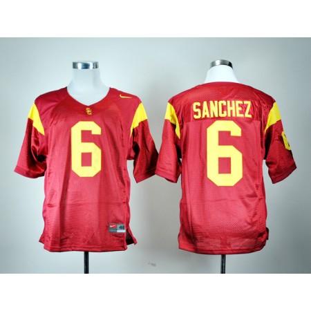 NCAA USC Trojans 6 Mark Sanchez Red Nike College Football Jersey