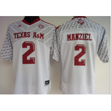Womens 2016 NCAA Texas A&M Aggies 2 Manziel White Jerseys