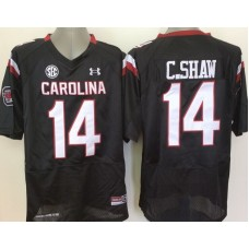Youth 2016 NCAA South Carolina Gamecock 14 C.Shaw Black Jerseys