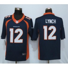 2016 Denver Broncos 12 Lynch Blue Nike Limited Jerseys