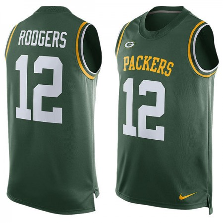 2016 Green Bay Packers 12 Aaron Rodgers Nike Player Name & Number Tank Top - Green