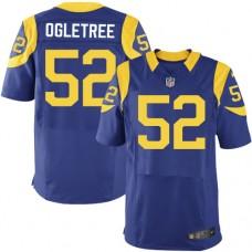2016 Los Angeles Rams 52 Ogletree Blue Nike Elite Jerseys