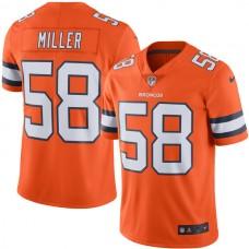 2016 Men  Denver Broncos 58 Miller Nike Orange Color Rush Limited Jersey