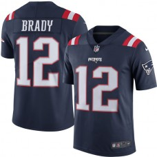 2016 Men  New England Patriots 12 Tom Brady Nike Navy Color Rush Limited Jersey