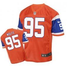2016 Men's Denver Broncos 95 Wolfe Nike Elite orange Jersey
