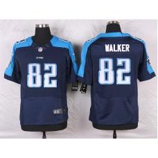 2016 Men's Nike Tennessee Titans 82 Delanie Walker Elite Navy Blue Alternate NFL Jersey