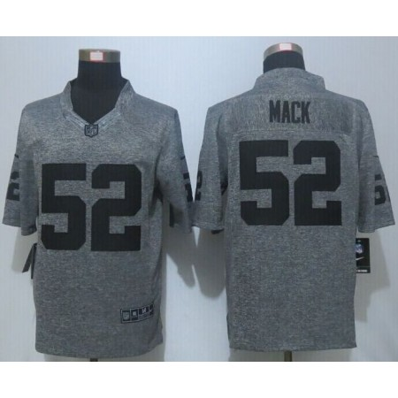 2016 New Nike Oakland Raiders 52 Mack Gray Men's Stitched Gridiron Gray Limited Jersey