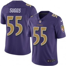 2016 Nike Baltimore Ravens 55 Terrell Suggs Purple Men Stitched NFL Limited Rush Jersey