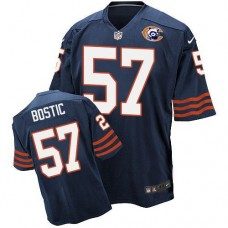 2016 Nike NFL Chicago Bears 57 Bostic throwback blue jersey