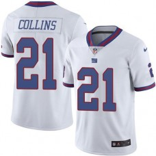 2016 Nike New York Giants 21 Landon Collins White Men Stitched NFL Limited Rush Jersey
