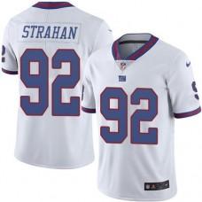 2016 Nike New York Giants 92 Michael Strahan White NFL Limited Rush Jersey