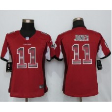 2016 Women New Nike Atlanta Falcons 11 Jones Red Strobe Elite Jersey