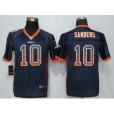2016 Youth NEW Nike Denver Broncos 10 Sanders Drift Fashion Blue Elite Jerseys