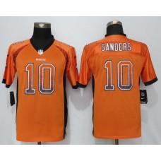 2016 Youth NEW Nike Denver Broncos 10 Sanders Drift Fashion Orange Elite Jerseys