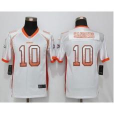2016 Youth NEW Nike Denver Broncos 10 Sanders Drift Fashion White Elite Jerseys