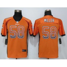 2016 Youth NEW Nike Denver Broncos 58 Miller Drift Fashion Orange Elite Jerseys