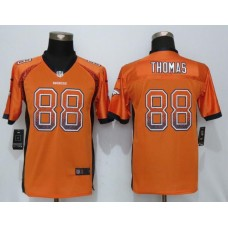 2016 Youth NEW Nike Denver Broncos 88 Thomas Drift Fashion Orange Elite Jerseys