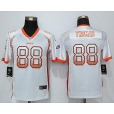 2016 Youth NEW Nike Denver Broncos 88 Thomas Drift Fashion White Elite Jerseys