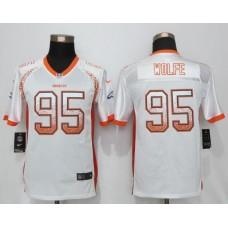 2016 Youth NEW Nike Denver Broncos 95 Wolfe Drift Fashion White Elite Jerseys