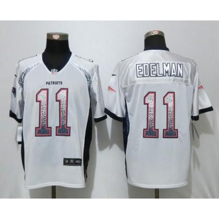 2017 New Nike New England Patriots 11 Edelman Drift Fashion White Elite Jerseys