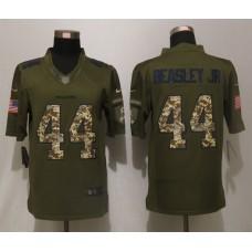 Atlanta Falcons 44 Beasley jr Green Salute To Service New Nike Limited Jersey