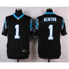 NFL Customize Carolina Panthers 1 Newton Black Men Nike Elite Jerseys