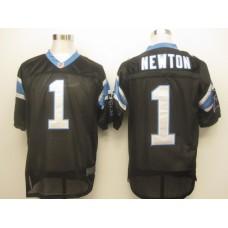 Carolina Panthers 1 Newton Black Nike Elite Jersey