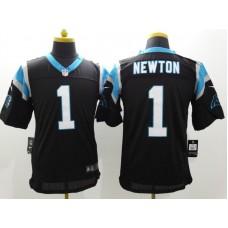 Carolina Panthers 1 Newton Black Nike Elite Jerseys