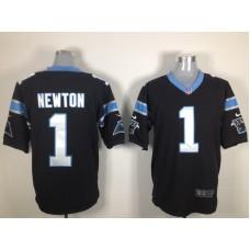 Carolina Panthers 1 Newton Black Nike Game Jersey