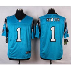 NFL Customize Carolina Panthers 1 Newton Blue Men Nike Elite Jerseys
