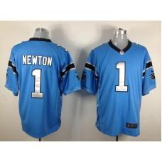 Carolina Panthers 1 Newton Blue Nike Game Jersey