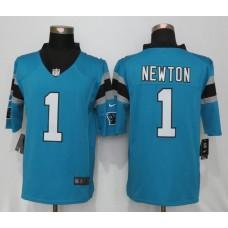 Carolina Panthers 1 Newton Blue Nike Limited Jerseys