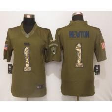 Carolina Panthers 1 Newton Green Salute To Service New Nike Limited Jersey