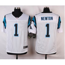 NFL Customize Carolina Panthers 1 Newton White Men Nike Elite Jerseys
