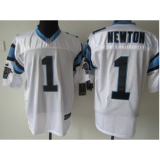 Carolina Panthers 1 Newton White Nike Elite Jersey