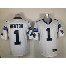 Carolina Panthers 1 Newton White Nike Game jerseys