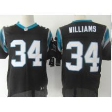 Carolina Panthers 34 Williams Black Nike Elite Jersey