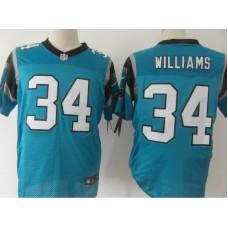 Carolina Panthers 34 Williams Blue Nike Elite Jersey