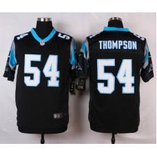 NFL Customize Carolina Panthers 54 Thompson Black 2015 Nike Elite Jersey