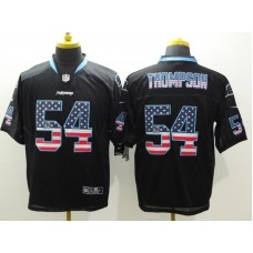 Carolina Panthers 54 Thompson Black Nike USA Flag Fashion Elite Jerseys