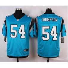 NFL Customize Carolina Panthers 54 Thompson Green 2015 Nike Elite Jersey