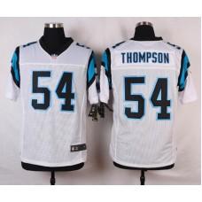 NFL Customize Carolina Panthers 54 Thompson White 2015 Nike Elite Jersey