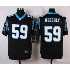 NFL Customize Carolina Panthers 59 Kuechly Black 2015 Nike Elite Jersey