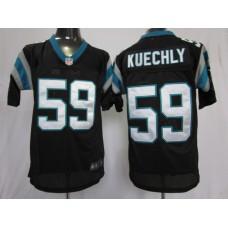 Carolina Panthers 59 Kuechly Black Nike Elite Jersey
