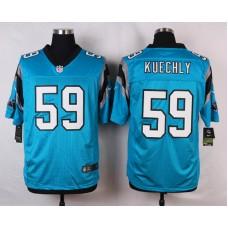 NFL Customize Carolina Panthers 59 Kuechly Blue 2015 Nike Elite Jersey