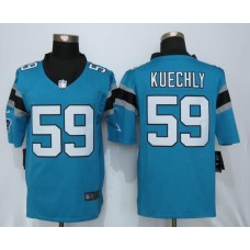 Carolina Panthers 59 Kuechly Blue Nike Limited Jerseys
