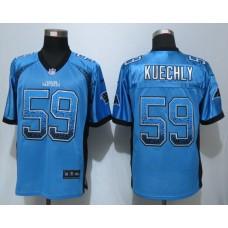 Carolina Panthers 59 Kuechly Drift Fashion Blue NEW Nike Elite Jerseys