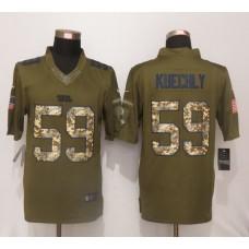 Carolina Panthers 59 Kuechly Green Salute To Service New Nike Limited Jersey