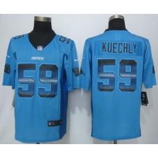 Carolina Panthers 59 Kuechly Pro Line Blue Fashion Strobe 2015 New Nike Jersey