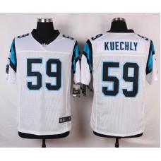 NFL Customize Carolina Panthers 59 Kuechly White 2015 Nike Elite Jersey